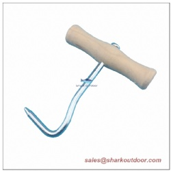 Tent Peg Puller with Wooden Handle